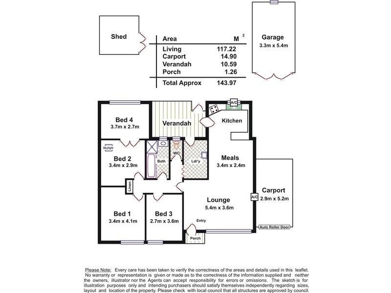 5 Marshman Street, Davoren Park SA 5113 Floorplan