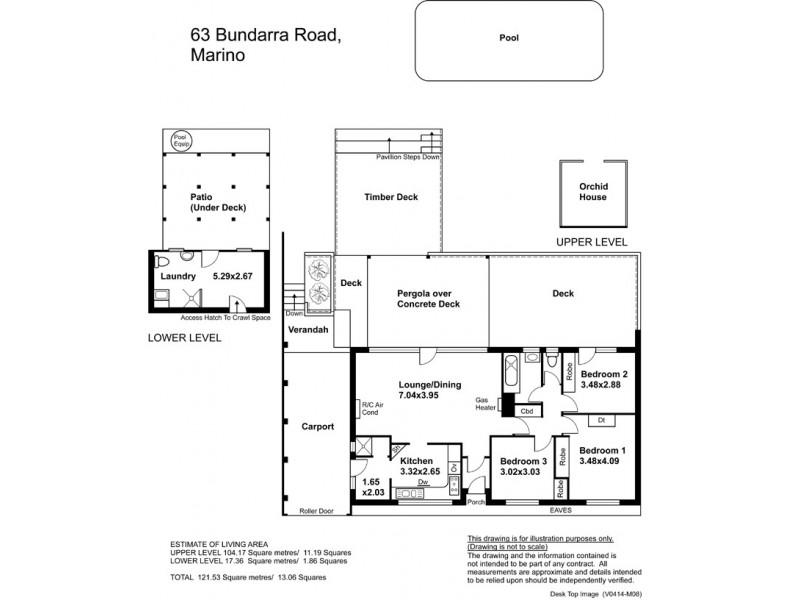 63 BUNDARRA ROAD, Marino SA 5049 Floorplan