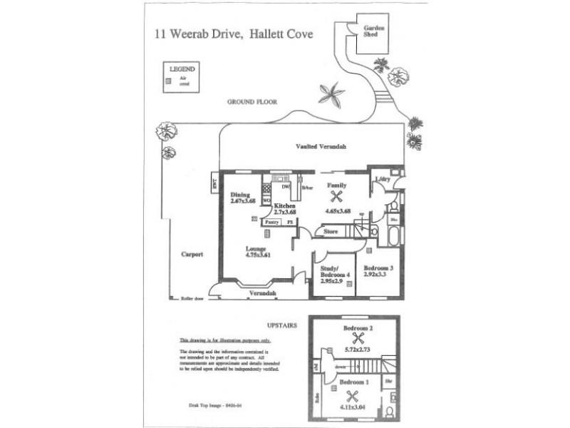 11 Weerab Drive, Hallett Cove SA 5158 Floorplan