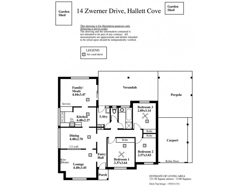 14 Zwerner Drive, Hallett Cove SA 5158 Floorplan