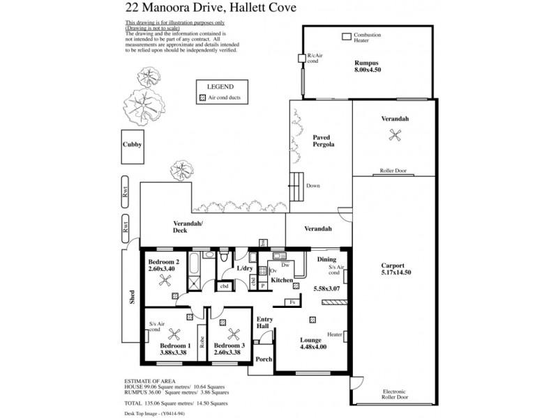 22 Manoora Drive, Hallett Cove SA 5158 Floorplan