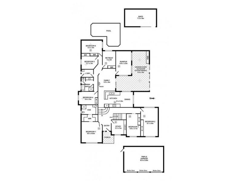 12 Ibis Crescent, Hallett Cove SA 5158 Floorplan