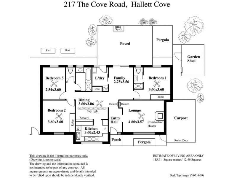 217 The Cove Road, Hallett Cove SA 5158 Floorplan