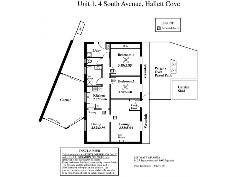 1 / 4 South Avenue, Hallett Cove SA 5158 Floorplan