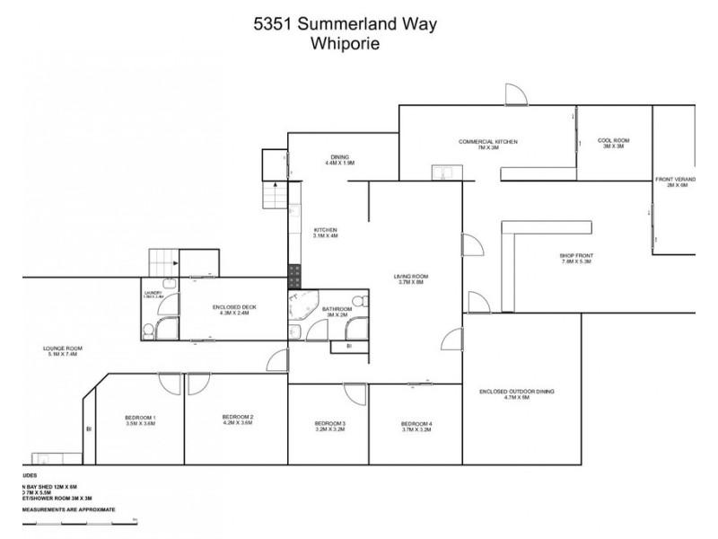 5351 Summerland Way, Whiporie NSW 2469 Floorplan