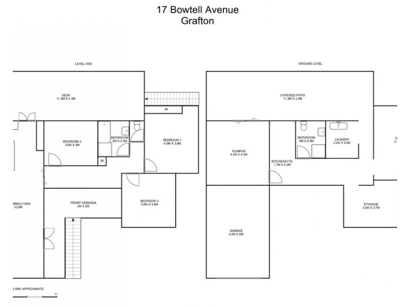 17 Bowtell Avenue, Grafton NSW 2460 Floorplan