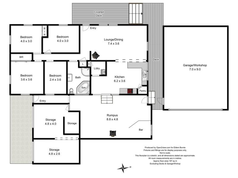 7 Acacia Court, Rosebery TAS 7470 Floorplan