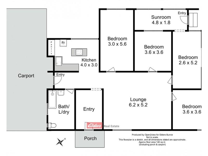 40 Bowes Street, Queenstown TAS 7467 Floorplan