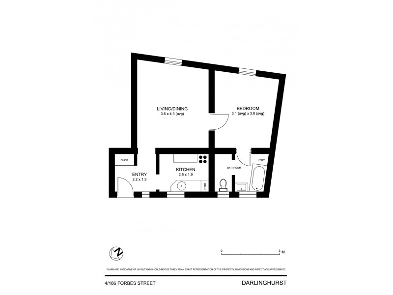 4/186 Forbes Street, Darlinghurst NSW 2010 Floorplan