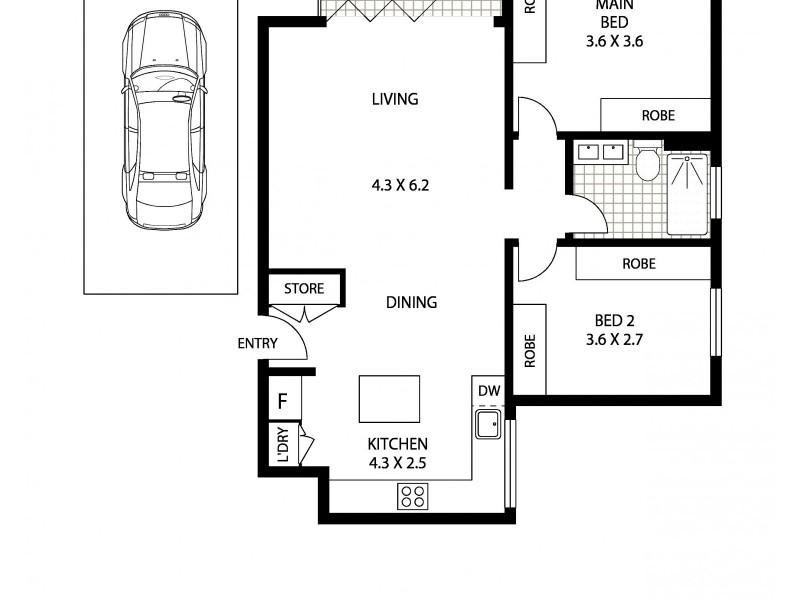 1/20 Hardy Street, North Bondi NSW 2026 Floorplan