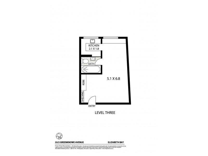35/2 Greenknowe Avenue, Elizabeth Bay NSW 2011 Floorplan