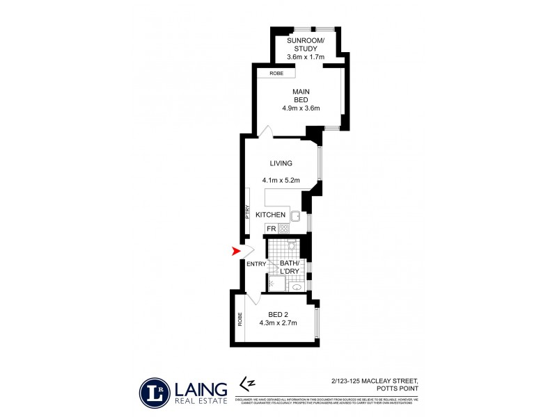 2/123-125 Macleay Street, Potts Point NSW 2011 Floorplan