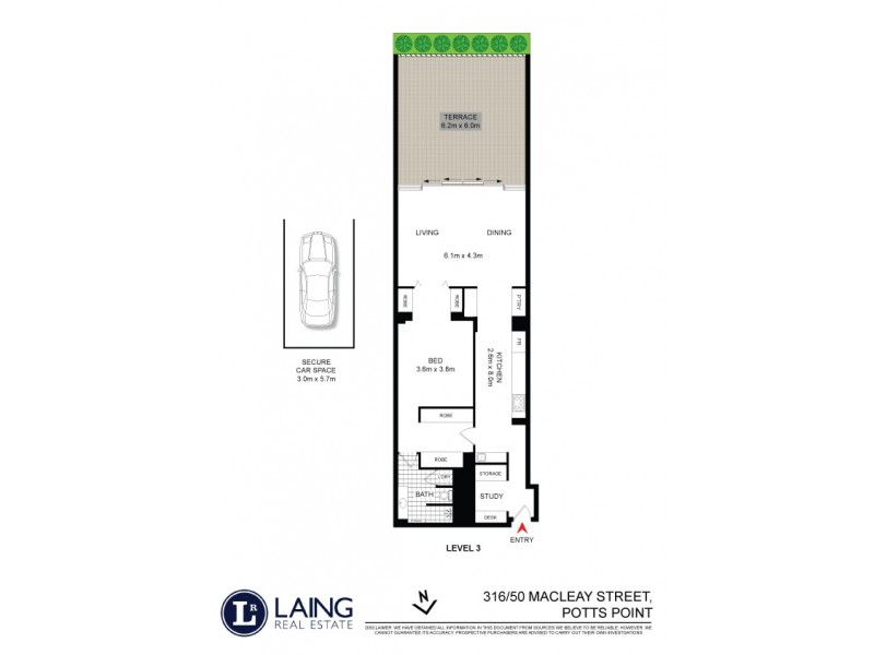 316/50 Macleay Street, Potts Point NSW 2011 Floorplan