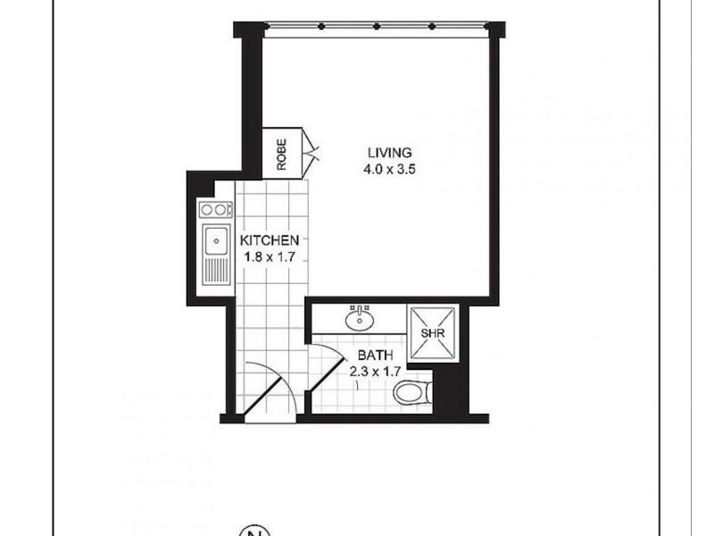 706/28 Macleay Street, Potts Point NSW 2011 Floorplan