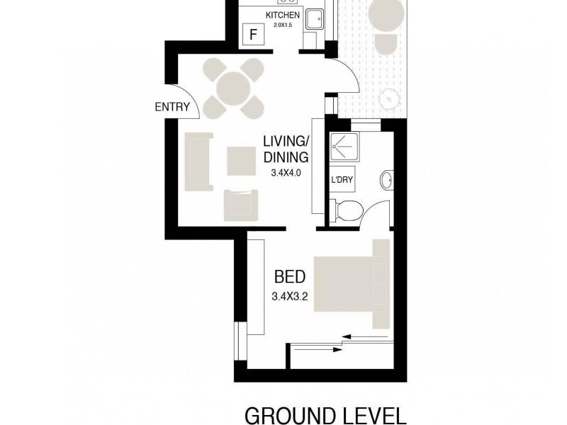 2/2 Tusculum Street, Potts Point NSW 2011 Floorplan