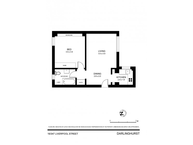16/347 Liverpool Street, Darlinghurst NSW 2010 Floorplan