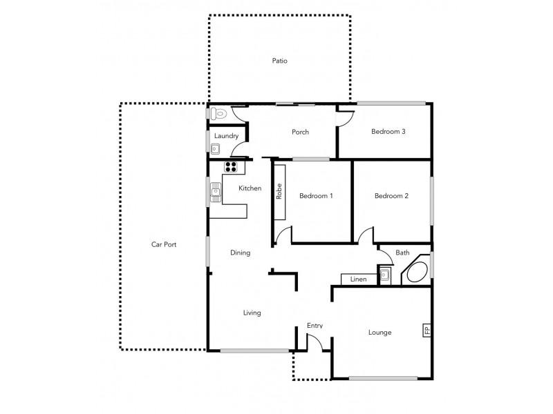93 George Road, Ararat VIC 3377 Floorplan