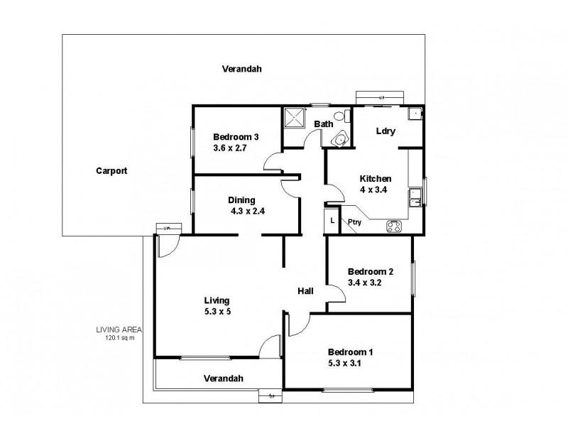 16 West Terrace, Blanchetown SA 5357 Floorplan