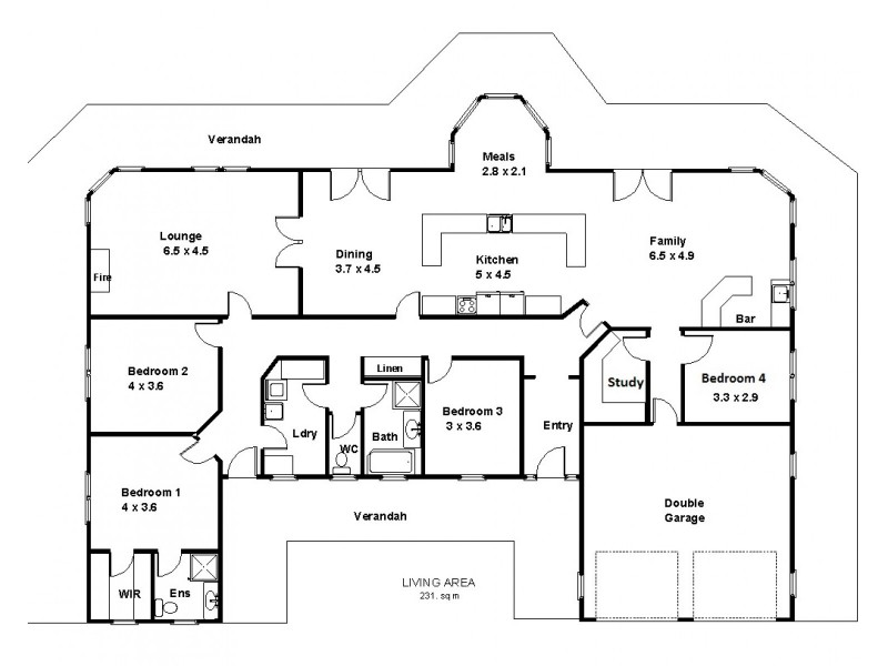 43 Pioneer Landing Drive, Loxton SA 5333 Floorplan