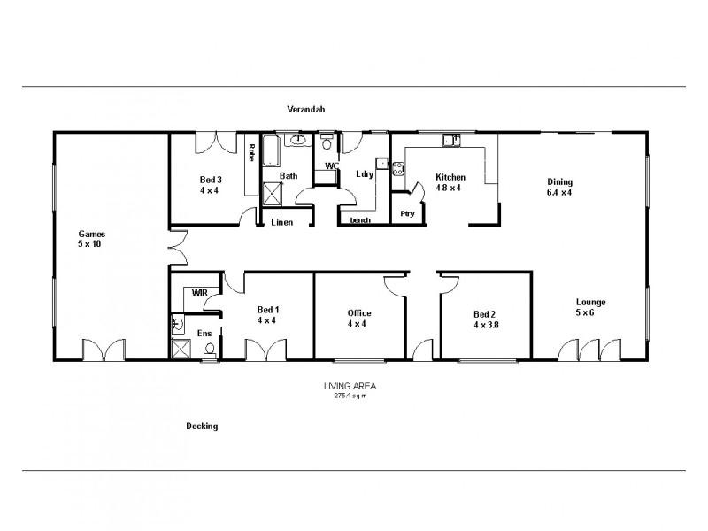 121 Anderson Road, Loxton SA 5333 Floorplan