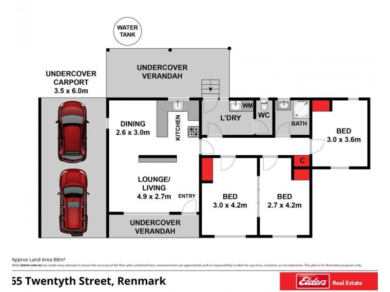 65 Twentieth Street, Renmark SA 5341 Floorplan