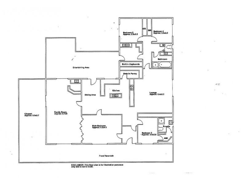 892 Hunt Road, Barmera SA 5345 Floorplan