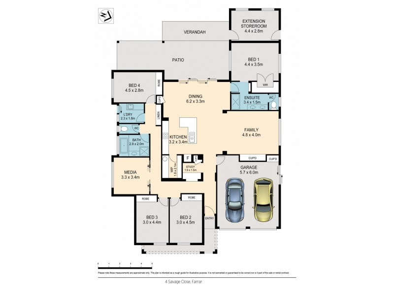 4 Savage Close, Farrar NT 0830 Floorplan
