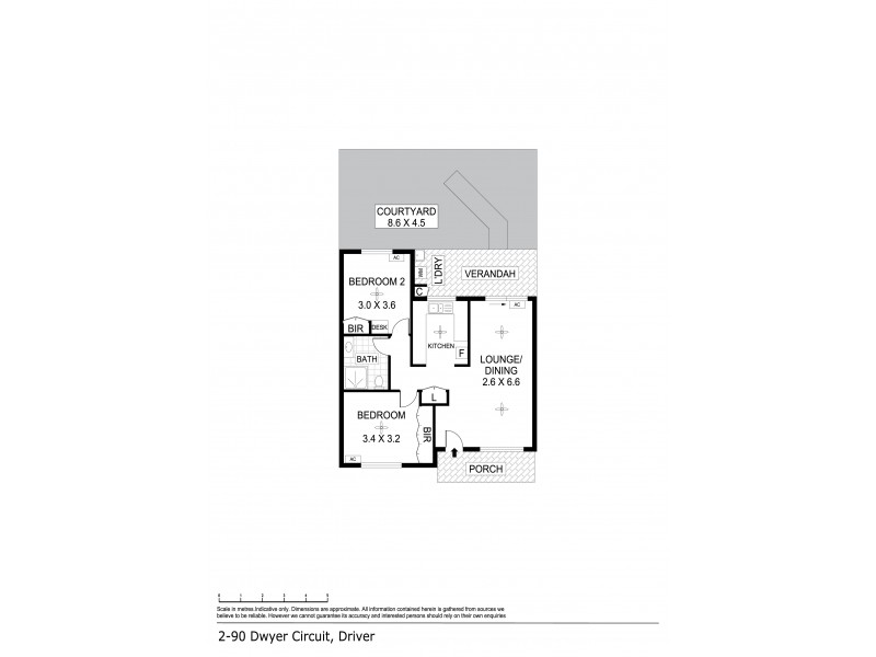 2/90 Dwyer Circuit, Driver NT 0830 Floorplan