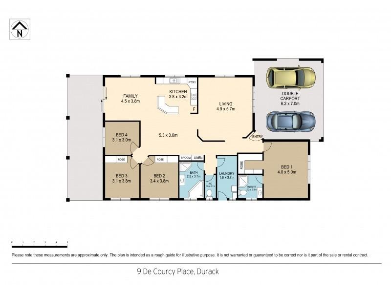 9 De Courcy Place, Durack NT 0830 Floorplan