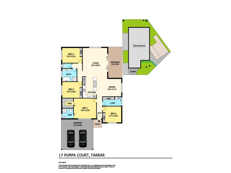 17 Pumpa Court, Farrar NT 0830 Floorplan