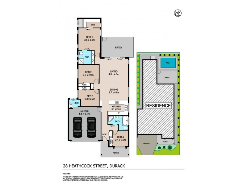 28 Heathcock Street, Durack NT 0830 Floorplan