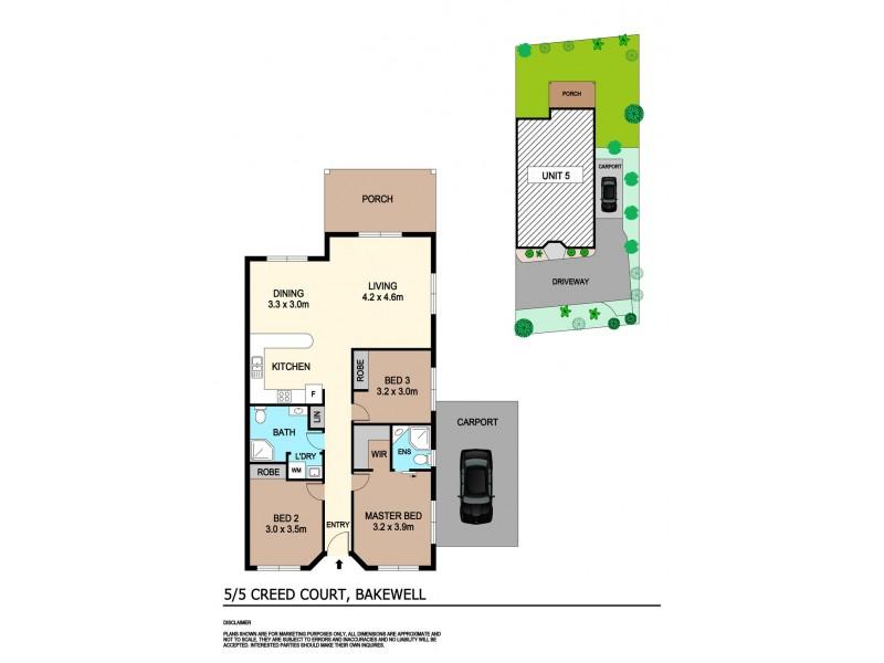 5/5 Creed Court, Bakewell NT 0832 Floorplan