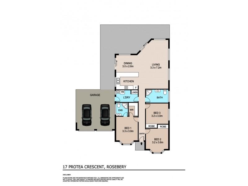 17 Protea Crescent, Rosebery NT 0832 Floorplan