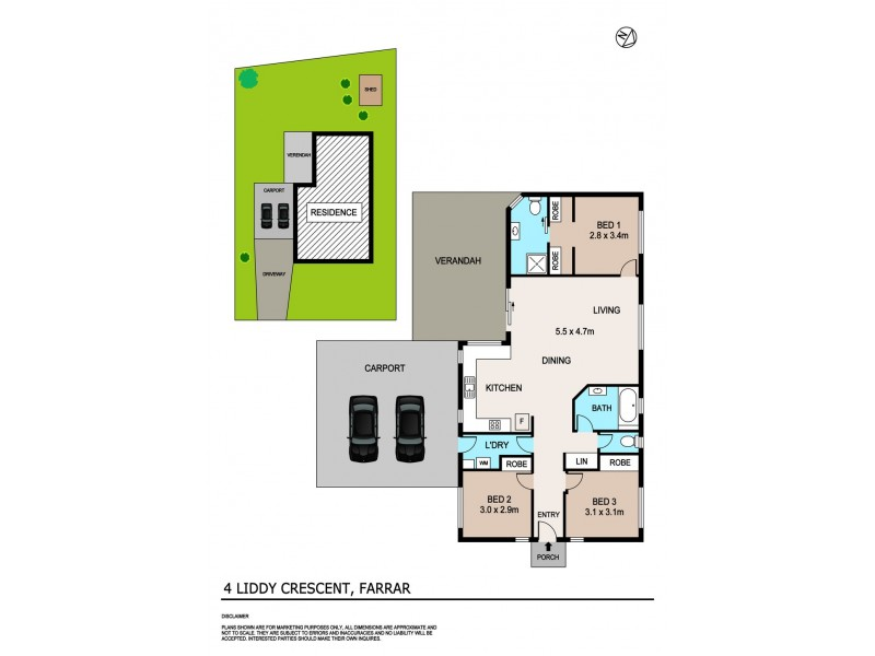 4 Liddy Crescent, Farrar NT 0830 Floorplan