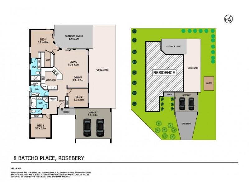 8 Batcho Place, Rosebery NT 0832 Floorplan