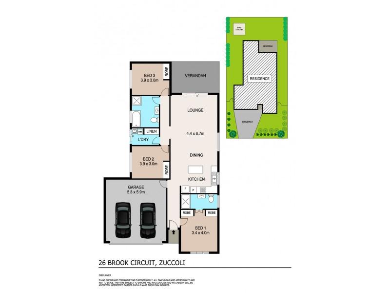 26 Brook Circuit, Zuccoli NT 0832 Floorplan