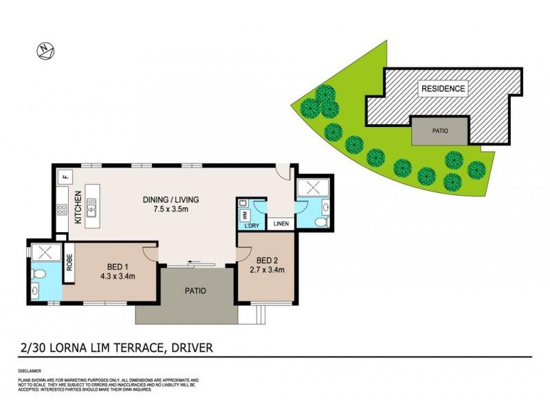 2/30 Lorna Lim Terrace, Driver NT 0830 Floorplan