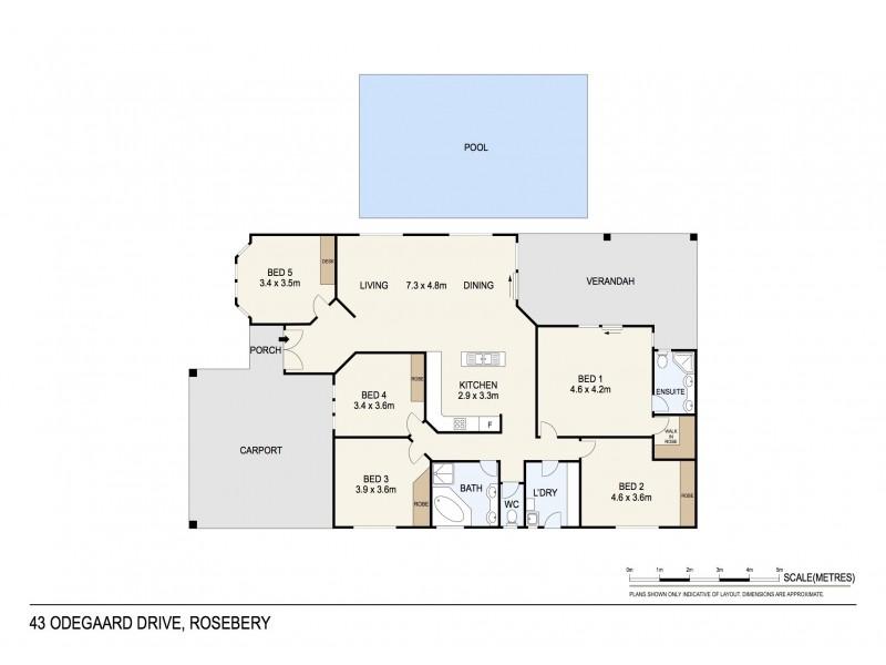 43 Odegaard Drive, Rosebery NT 0832 Floorplan