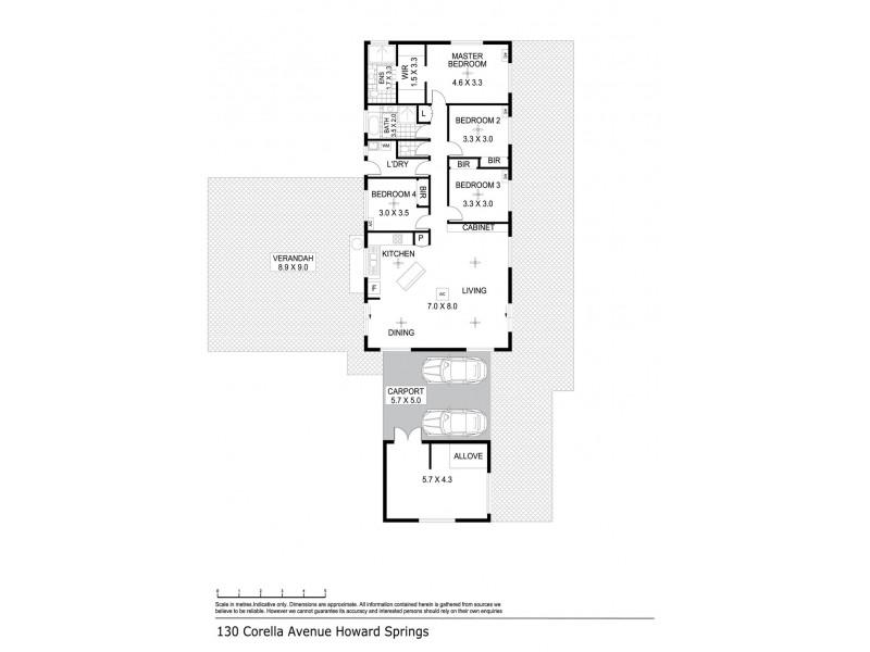 130 Corella Avenue, Howard Springs NT 0835 Floorplan
