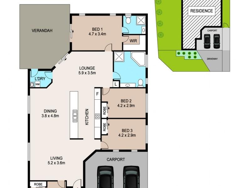 142 Flynn Circuit, Bellamack NT 0832 Floorplan