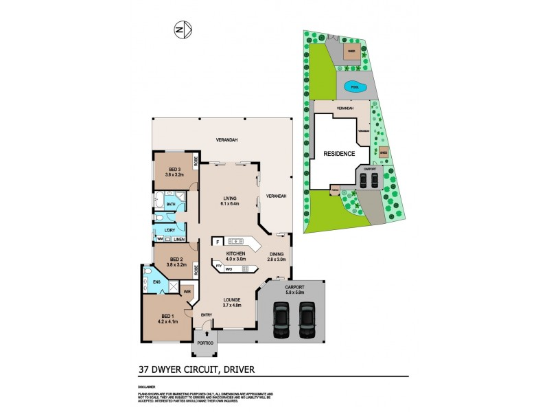 37 Dwyer Circuit, Driver NT 0830 Floorplan