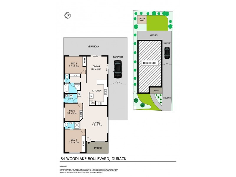 84 Woodlake Boulevard, Durack NT 0830 Floorplan