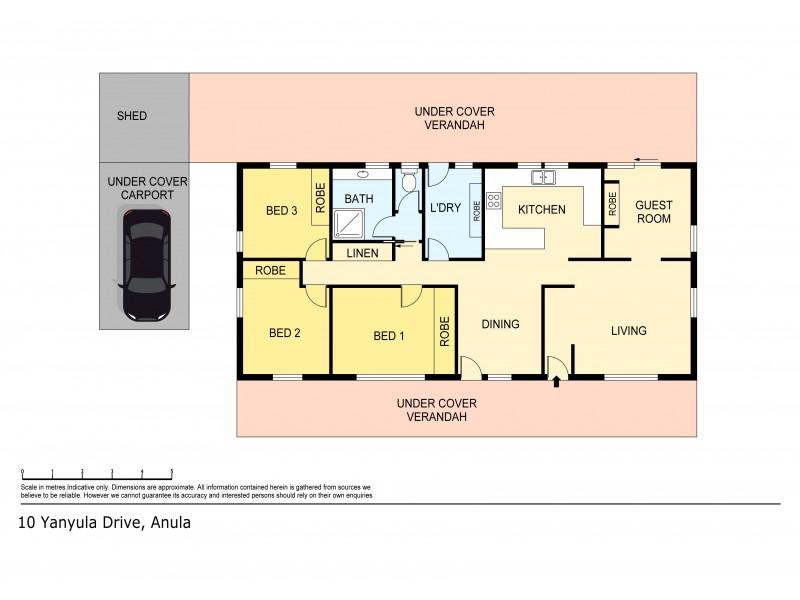 10 Yanyula Drive, Anula NT 0812 Floorplan
