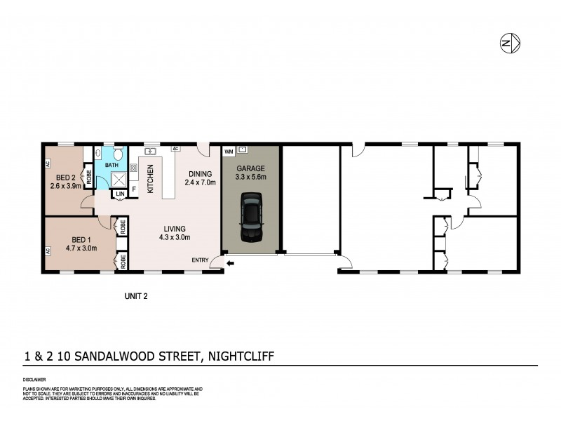 1 and 2/10 Sandalwood Street, Nightcliff NT 0810 Floorplan