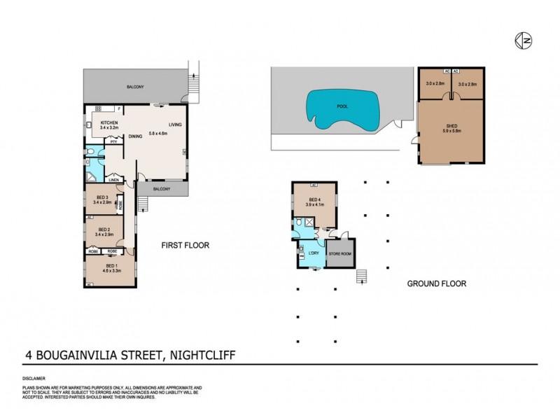 4 Bougainvilia Street, Nightcliff NT 0810 Floorplan