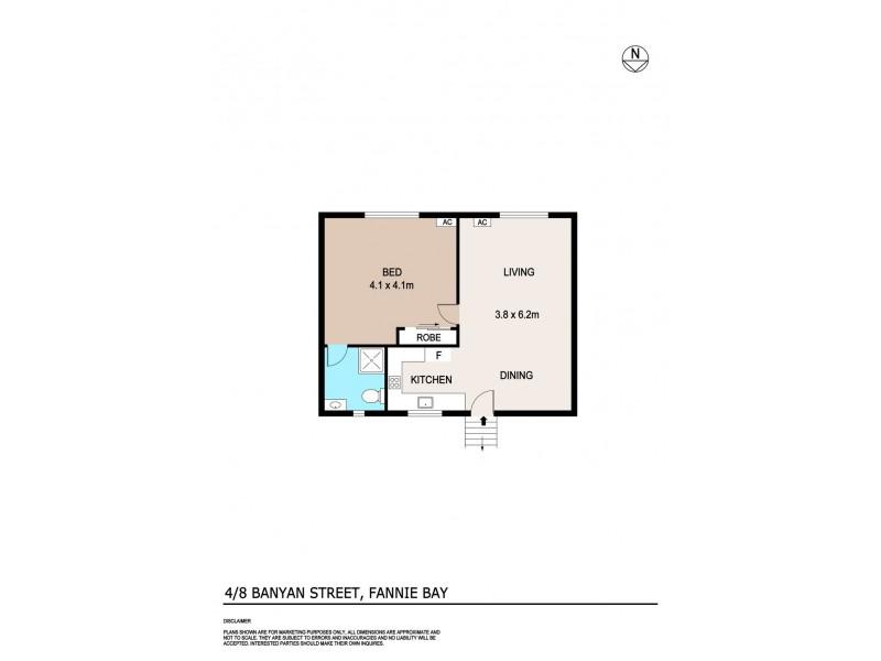 4/8 Banyan Street, Fannie Bay NT 0820 Floorplan