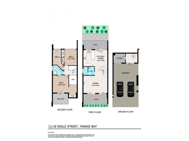 11/18 Seale Street, Fannie Bay NT 0820 Floorplan
