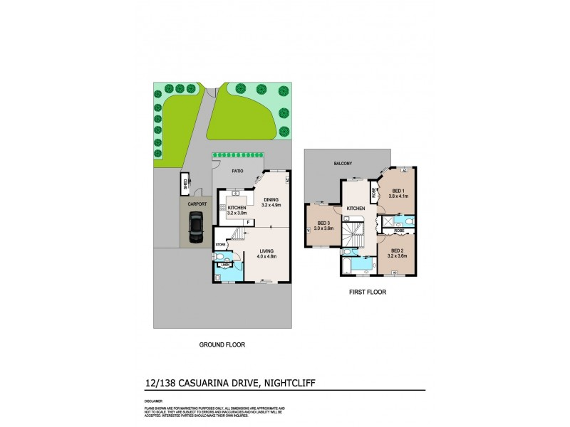 12/138 Casuarina Drive, Nightcliff NT 0810 Floorplan