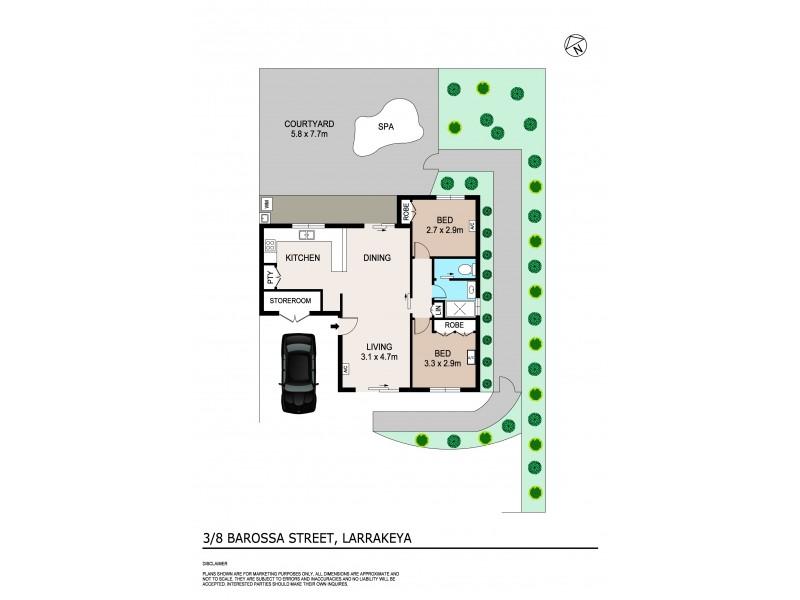 3/8 Barossa Street, Larrakeyah NT 0820 Floorplan