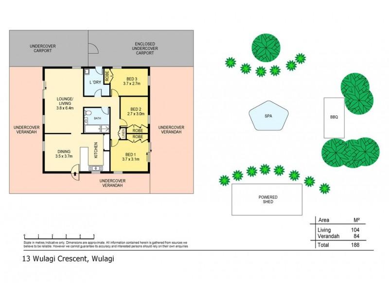 13 Wulagi Crescent, Wulagi NT 0812 Floorplan
